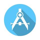 Formulera den plana symbolen för kompass vektor illustrationer