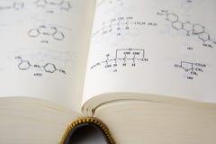 Formules chimiques Photographie stock libre de droits