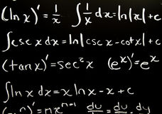 Formules de maths Images libres de droits