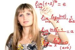 Formules de maths Photo stock