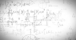 Formules de maths sur le tableau blanc illustration libre de droits
