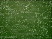 Formules De Maths Sur Le Tableau Noir D'école Photographie stock - Image: 25446432