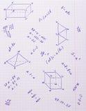 Formules et formes géométriques Photos stock