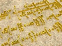 Formules mathématiques Images libres de droits