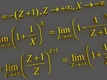 Formules mathématiques Photo stock