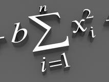 Formules mathématiques Photos stock