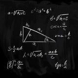 Formules rectangulaires de triangle Photographie stock