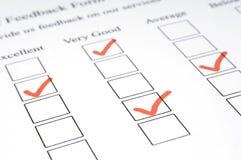 Formulário #3 do feedback Foto de Stock Royalty Free