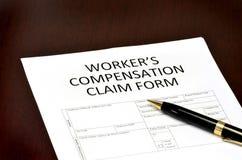 Formulário da compensação do trabalhador Fotos de Stock