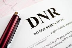 Formulário de DNR Imagem de Stock Royalty Free