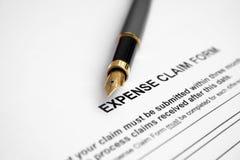 Formulário de reivindicação da despesa Imagens de Stock Royalty Free