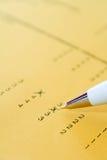 Formulário do exame ou do feedback Fotografia de Stock Royalty Free