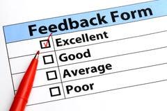 Formulário do feedback Imagem de Stock