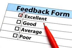 Formulário do feedback Foto de Stock