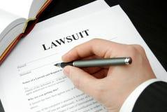 Formulário do processo legal Imagem de Stock Royalty Free