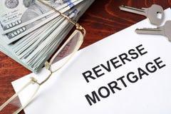 Formulário reverso da hipoteca Imagens de Stock