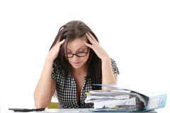 Formulários de imposto Fotografia de Stock Royalty Free