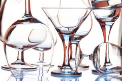 Formulários de vidro Fotografia de Stock Royalty Free