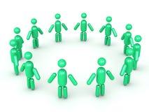 Formung einer Kreiskarikatur-Manngruppe Lizenzfreie Stockbilder