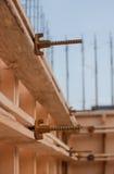 Formwork dla betonowej podstawy, plac budowy Fotografia Royalty Free