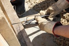 Formwork making Stock Photography