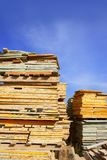 Formwork shuttering wood board stacked Royalty Free Stock Photo