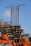 Formwork and steel bars Royalty Free Stock Images