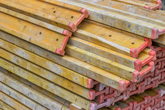 Formwork Timber Beam with a Full Section End Cap Stock Photography