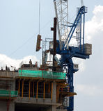 Formworks. A piece of formwork being lifted in a construction site Stock Photos