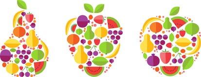 formy fruit owoc szablon Obrazy Stock