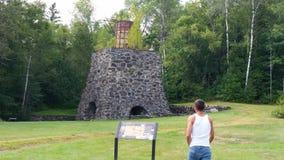 fornace del carbone 1800's Fotografie Stock Libere da Diritti