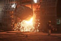 Fornace di fabbricazione dell'acciaio Fotografia Stock Libera da Diritti