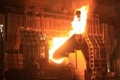 Fornace di fabbricazione dell'acciaio Fotografie Stock
