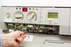 Fornace di gas della riparazione fotografia stock