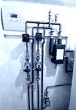 Fornace di gas domestica fotografia stock