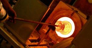 Fornace di salto di vetro Immagini Stock