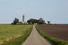 Fornaes lighthouse in Grenaa, Denmark. View of the Fornaes lighthouse in Grenaa, Denmark Stock Photography
