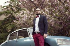Fornal i miesiąca miodowego zegaru stary samochód Zdjęcie Royalty Free