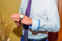 Fornal odzieży zegarek na ręce Zdjęcie Stock