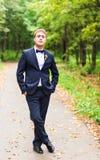 Fornal w ślubnym kostiumu zdjęcia royalty free