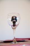 Fornala wino Glas z Tux Fotografia Royalty Free