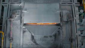 Fornalha de fundição do metal em fresas de aço filme