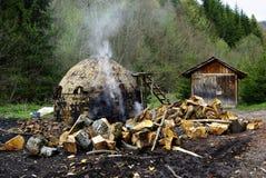 Fornalha do carvão vegetal Foto de Stock Royalty Free