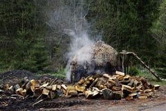 Fornalha do carvão vegetal Fotos de Stock Royalty Free