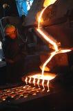 Fornalha na planta metalúrgica Imagem de Stock