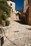 Fornalutx. Alley in old village Fornalutx, Majorca, Spain Royalty Free Stock Photos