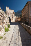 Fornalutx. Alley in old village Fornalutx, Majorca, Spain Stock Photos