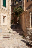 Fornalutx. Alley in old village Fornalutx, Majorca, Spain Stock Images