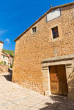 Fornalutx village church in Majorca Balearic island Royalty Free Stock Photos