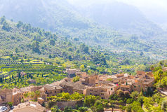Fornalutx village in Majorca Balearic island Royalty Free Stock Image